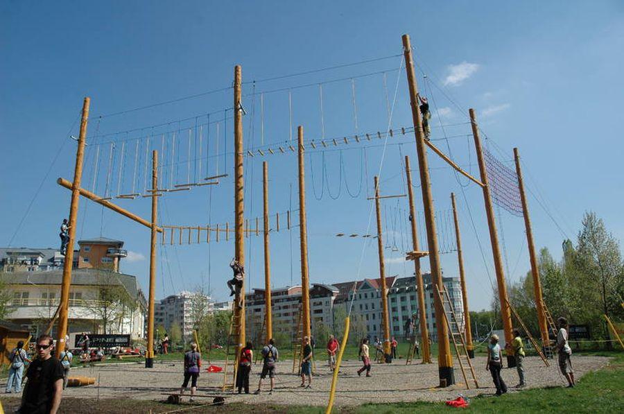 Honba za pokladem v lanovém centru Proud v Praze
