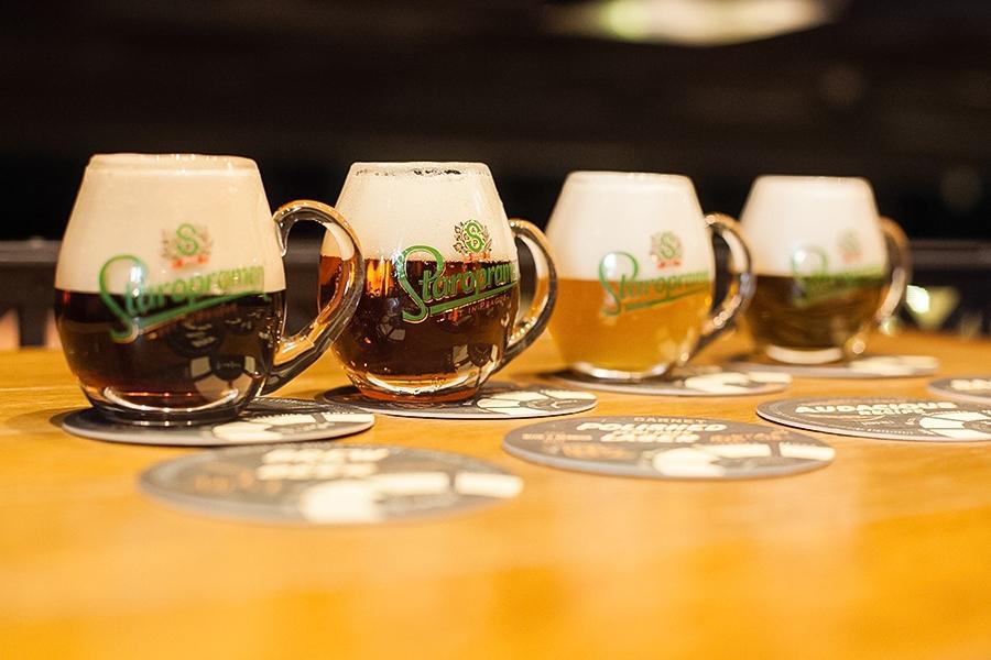 Degustace 5 druhů piva v pivovaru Staropramen v Praze